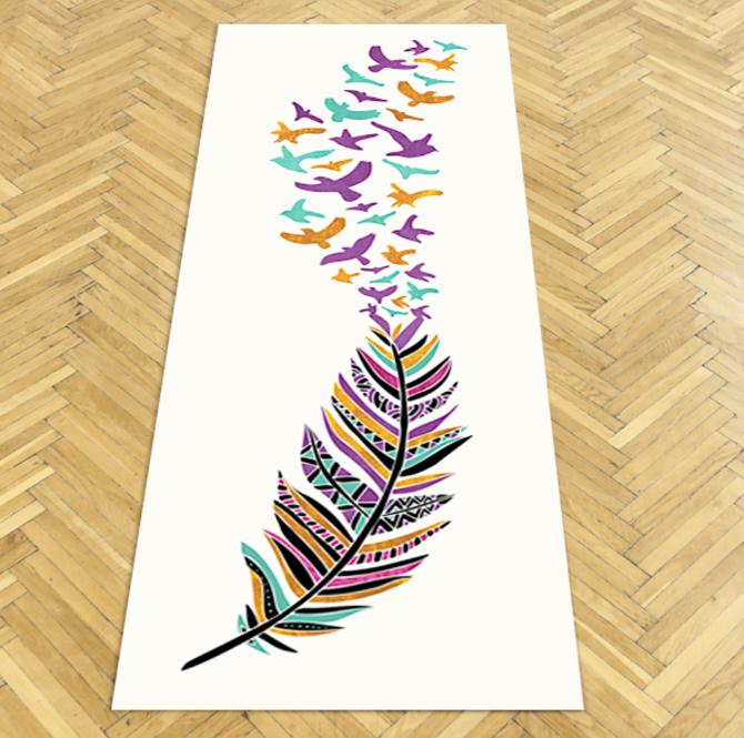 yoga mats pom graphic design