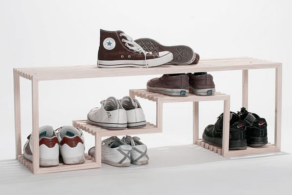 simple skyline shoe rack design ideas with wooden