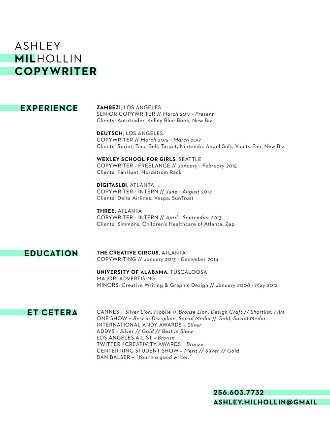 Ashley Milhollin  Taco Bell Resume